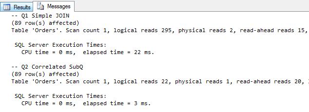 Pomiar wydajności zapytań SQL