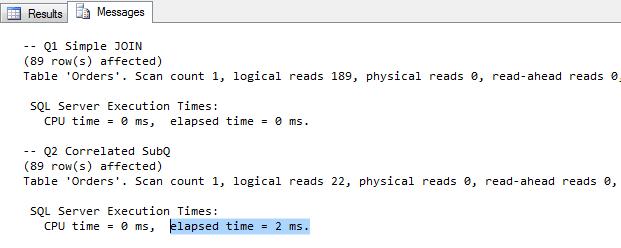 Pomiar wydajności zapytań SQL Server
